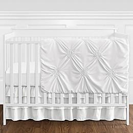 Sweet Jojo Designs® Harper 4-Piece Reversible Crib Bedding Set in White