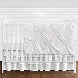 Sweet Jojo Designs® Harper 4-Piece Reversible Crib Bedding Set in White
