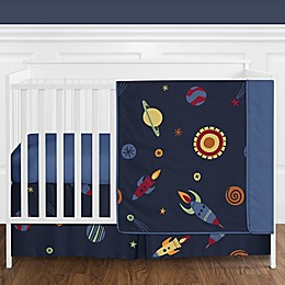 Sweet Jojo Designs® Space Galaxy 4-Piece Reversible Crib Bedding Set