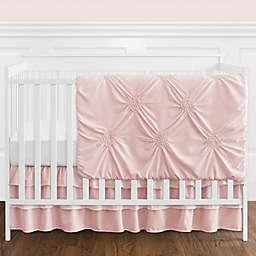 Sweet Jojo Designs® Harper 4-Piece Crib Bedding Set in Blush/White