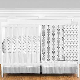 Sweet Jojo Designs® Mod Arrow 4-Piece Crib Bedding Set in Dark Grey/Light Grey