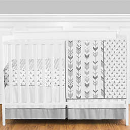 Sweet Jojo Designs® Mod Arrow 4-Piece Crib Bedding Set in Dark Grey/Light Grey