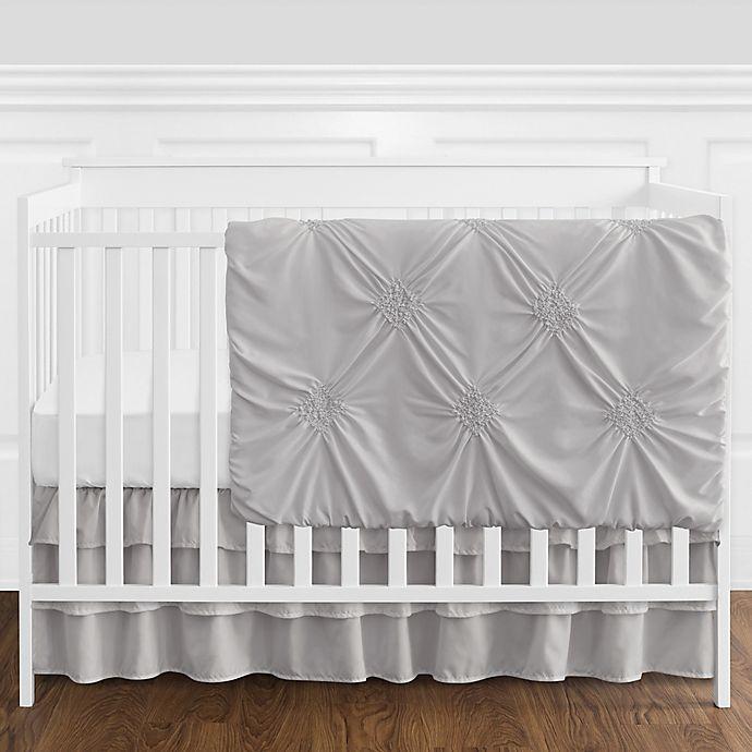 Alternate image 1 for Sweet Jojo Designs® Harper 4-Piece Reversible Crib Bedding Set in Grey