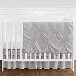 Sweet Jojo Designs® Harper 4-Piece Reversible Crib Bedding Set in Grey