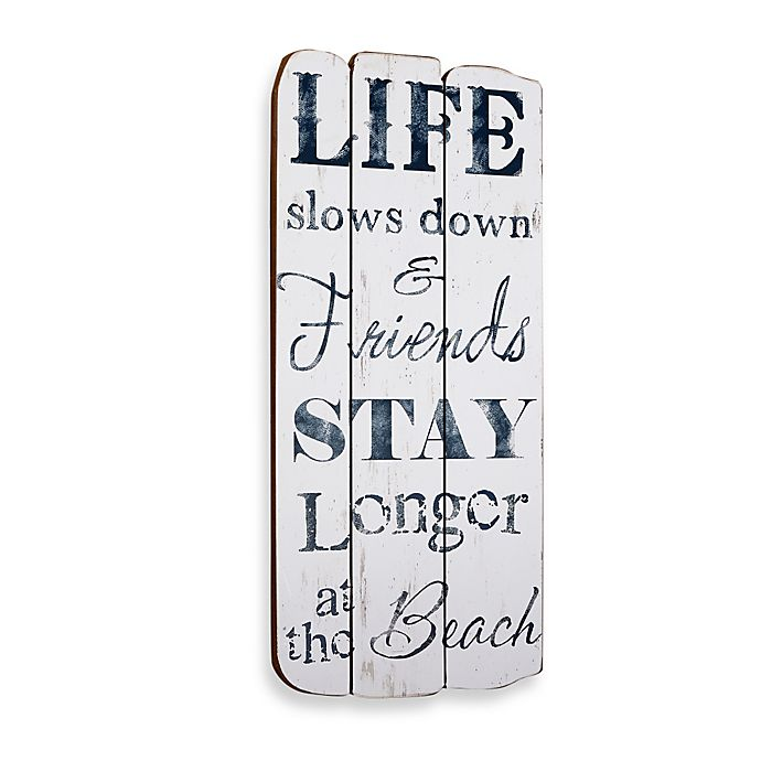 Alternate image 1 for Life at the Beach Plaque Wall Art