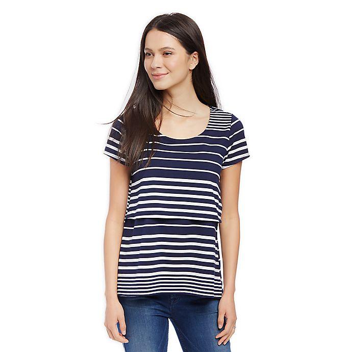 Alternate image 1 for Motherhood Maternity® Lift-Up Slim Fit Nursing T-Shirt