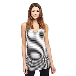 Motherhood Maternity® Side Ruched Stripe Maternity Tank Top