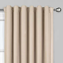 The Collection Fritz 108-Inch Rod Pocket/Back Tab Window Curtain Panel in Oat