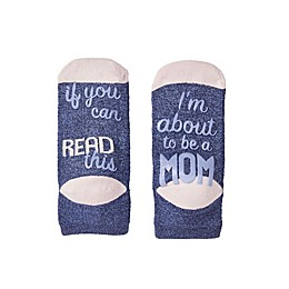 Motherhood® Maternity About to be Mom Hospital Socks in Grey/Black