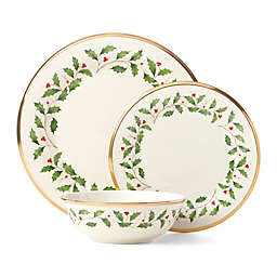 Lenox® Holiday 3-Piece Place Setting in Red/Green