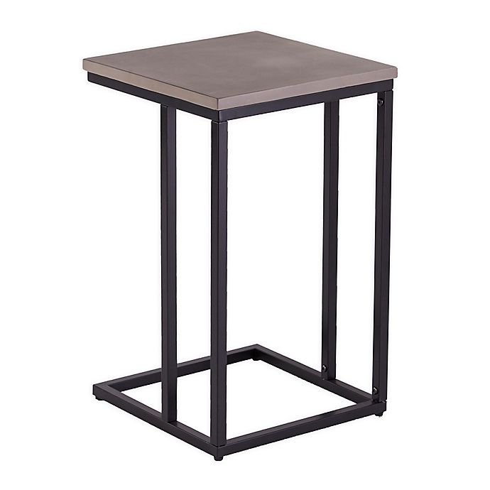Alternate image 1 for Southern Enterprises Elsinora Outdoor C Accent Table in Black/Grey
