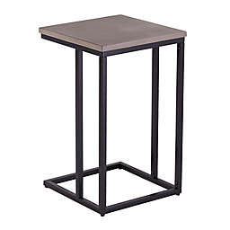 Southern Enterprises Elsinora Outdoor C Accent Table in Black/Grey