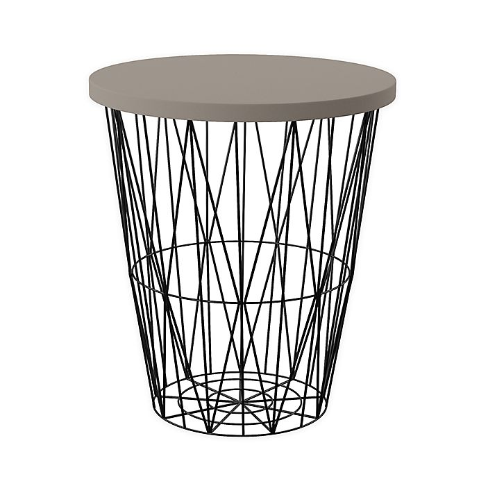Alternate image 1 for Southern Enterprises Ralina Round Outdoor Accent Table in Black/Grey