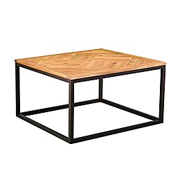 Southern Enterprises Baranik Outdoor Coffee Table in Black/Natural