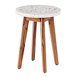 Southern Enterprises Latchia Terrazzo-Top Round Outdoor Accent Table