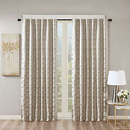 "SunSmart Cassius 100% Blackout Window Curtain Panel 50x95"" Grey/Silver"
