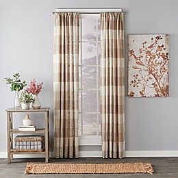 Aiden Light Filtering Rod Pocket Window Curtain Panel in Taupe