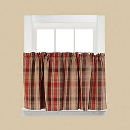 Cooper 36-Inch Window Curtain Tier Pair in Red