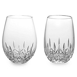 Waterford® Lismore Nouveau Stemless Crystal Wine Glasses
