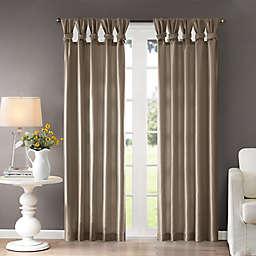 Madison Park Emilia 108-Inch Twist Tab Window Curtain Panel in Pewter