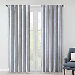 510 Design Ebon Woven Rod Pocket/Back Tab Total Blackout Curtain Panel Pair