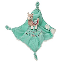 Mary Meyer Lovie Llama Plush Security Blanket in Aqua