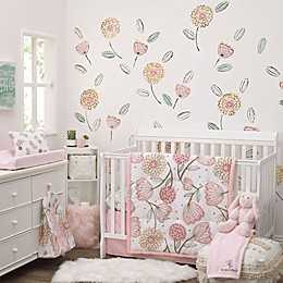NoJo® Beautiful Floral 8-Piece Crib Bedding Set in Pink