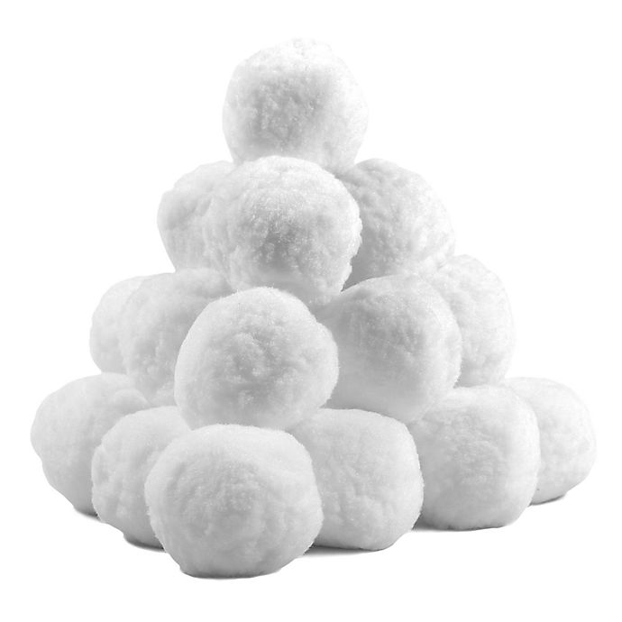 Alternate image 1 for Indoor 15-Piece Snowball Fight Kit