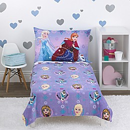 Disney® Frozen Let the Magic Flow 4-Piece Toddler Bedding Set in Lavender