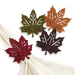 Fall Leaf Napkin Rings (Set of 4)