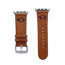 NFL Apple Watch® Short Leather Band Collection in Tan