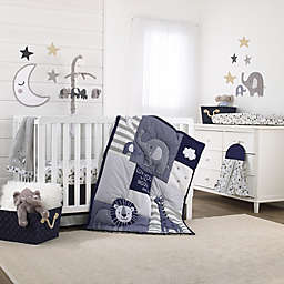 NoJo® Love You To The Moon 4-Piece Crib Bedding Set in Grey/Navy