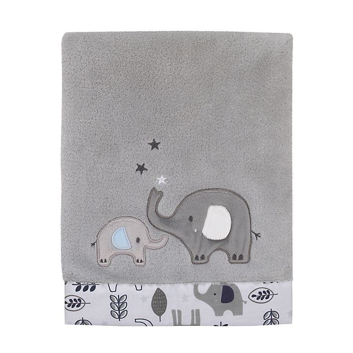 Alternate image 1 for NoJo® Love You To The Moon Baby Blanket in Grey