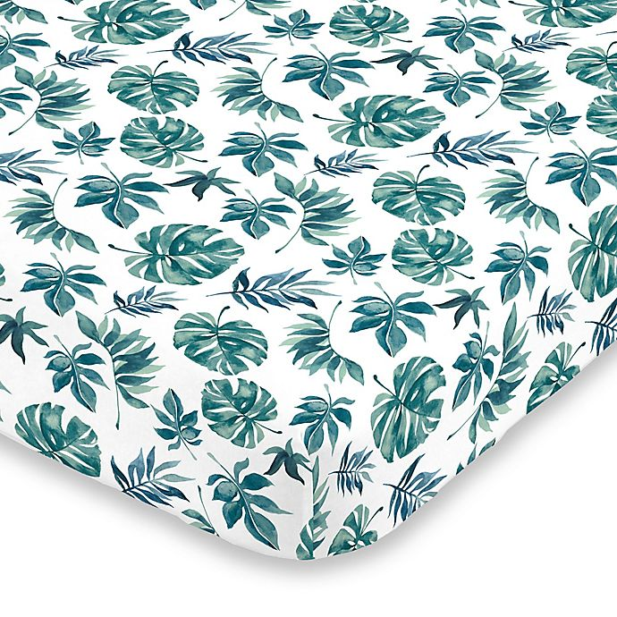 Alternate image 1 for NoJo Palm Leaf Fitted Crib Sheet