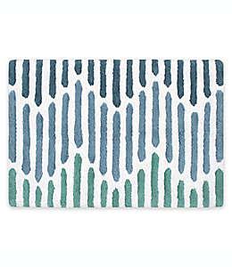 Tapete para baño Rocky Rain de 50.8 x 76.2 cm en aqua