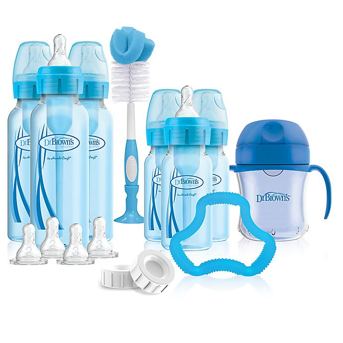 Alternate image 1 for Dr. Brown's® Options+™ Bottle Gift Set in Blue