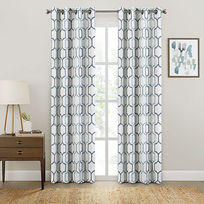 Alternate image 1 for Brookstone® Salano Geo Blackout Window Curtain Panel