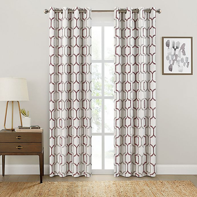 Alternate image 1 for Brookstone® Salano Geo Blackout Window Curtain Panel