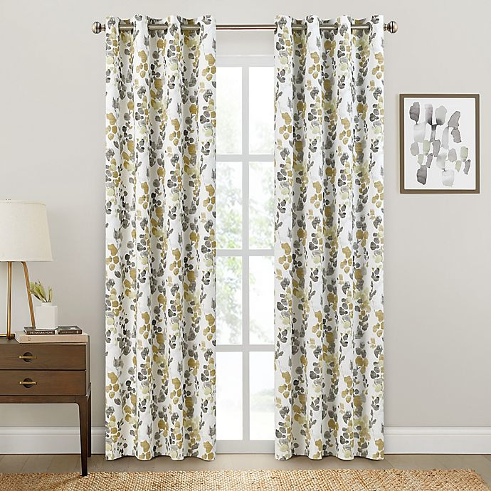 Alternate image 1 for Brookstone® Salano Floral Blackout Curtain Panel