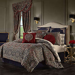 J. Queen New York Taormina 4-Piece Queen Comforter Set in Red