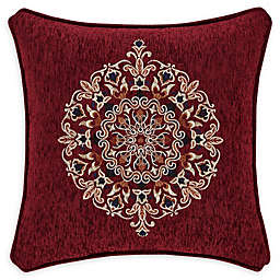J. Queen New York Taormina 18-Inch Square Throw Pillow in Red