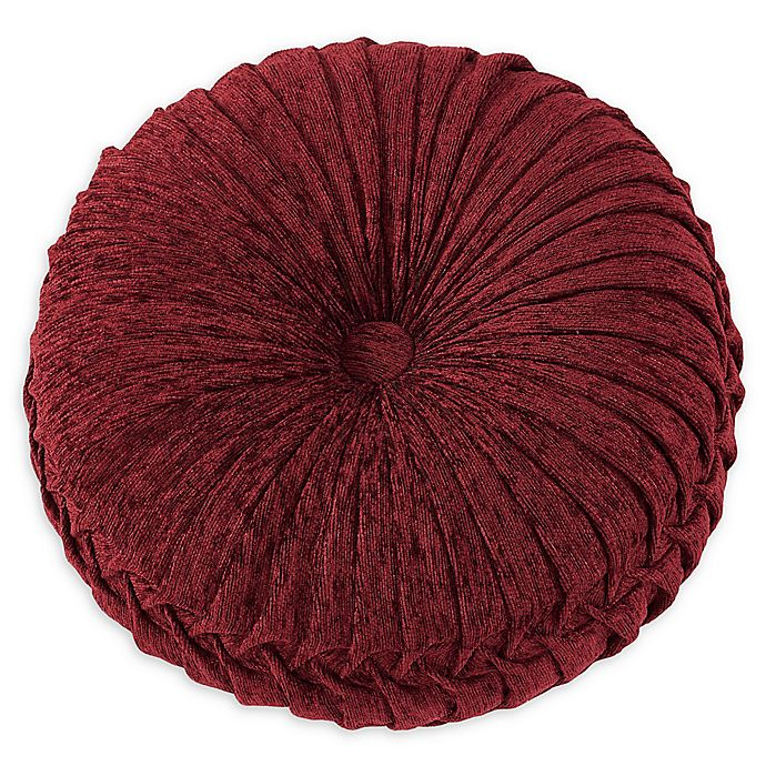 Alternate image 1 for J. Queen New York Taormina 15-Inch Round Throw Pillow in Red