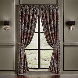J. Queen New York Taormina 84-Inch Rod Pocket Window Curtain Panel in Red