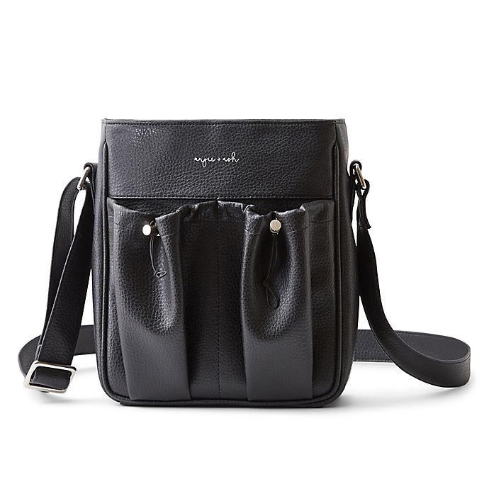 Alternate image 1 for Anjie+Ash® Crossbody Parent Diaper Bag in Black