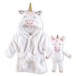 Hudson Baby® Size 0-9M 2-Piece Snuggle Time Unicorn Bathrobe and Push Toy Set