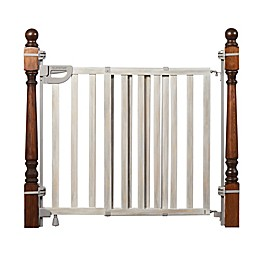 Summer™ Wood Banister and Stair Safety Gate in Gray