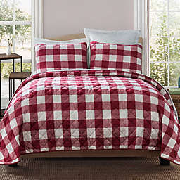 Bee & Willow™ Home Buffalo Check 3-Piece Reversible Queen Quilt Set in Red