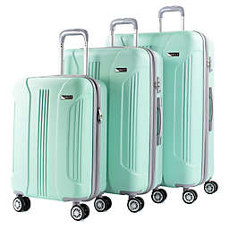 American Green Travel Denali 3-Piece Spinner Luggage Set in Mint