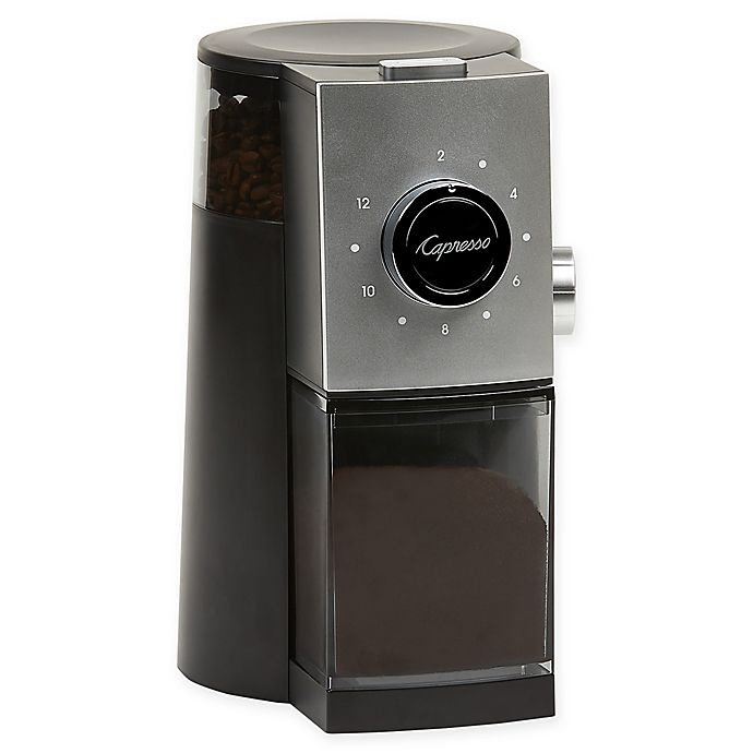 Alternate image 1 for Capresso® Grind Select Burr Grinder in Black/Silver