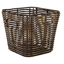 Relaxed Living Tapered Poly-Rattan 11-Inch Storage Basket